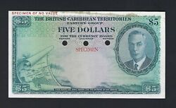 British Caribbean Territories 5 Dollars1950 P3s Color Trial About Uncirculated