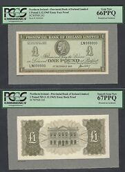 Northern Ireland One Pound 1-12-1965 P243 Essay Face - Back Proof Uncirculated