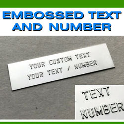 Data Plate Tag Embossed Serial Number Hin Trailer Boat Chevy Gmc Ford