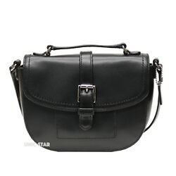 NWT COACH F51286 CHARLIE LEATHER ANDERSON CROSSBODY Black $65.00