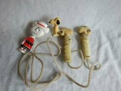 Wind-up Snoopy Walker, Jump Rope And Brush All Vintage Lot