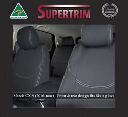 Front And Rear Car Seat Covers Fit Mazda Cx-9 Premium Waterproof Neoprene