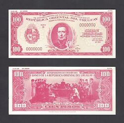 Uruguay 100 Pesos Proof Colour Variations A Proposed Issue Pick Unlisted Unc