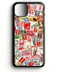 Postal Stamps Collage | Phone Case For Iphone | Samsung | Google Pixel 3 | Lg