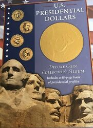 Deluxe Coin Collector's Album + Book 39 Coins Complete Set Presidential Dollars
