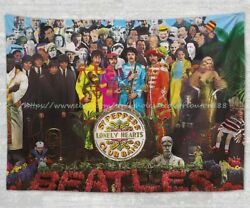 THE BEATLES Sgt Pepper tapestry cloth poster bedspread dorm room wall decor