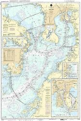 Noaa Chart Tampa Bay Safety Harbor St. Petersburg 12th Edition 11416