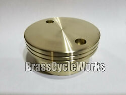 Yamaha Xs650 Oil Filter Cover Solid Brass Machined Finish.andnbsp