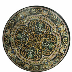 42 Marble Coffee / Dining Pietra Dura Floral Table Top Inlay Art Work