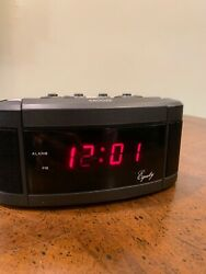 Equity Alarm Clock Model 30239 Battery Backup Good Condition Tested