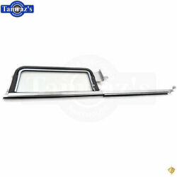 55-57 Chevy Sedan And Wagon Door Vent Clear Glass Wing Window Frame Assembly - Lh