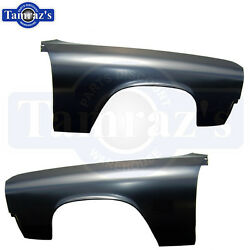 1971 1972 71 72 El Camino And Chevelle Wagon Front Front Fenders - Pair Lh And Rh