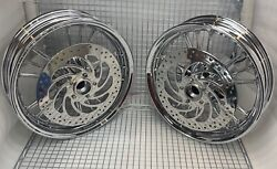 Indian Scout And Sixty Chrome Wheels Front And Rear And Rotors 2013 -18 Outright