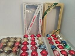 Vintage Lot Glass Ornaments, Pyramid, Holly