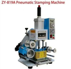 Zy-819a 8090mm Printable Area Pneumatic Hot Foil Stamping Machine Brand New Gn