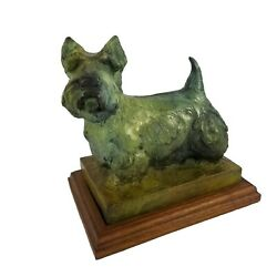 Sandy Scott Bronze Scottie Terrier Dog Sculpture Figurine