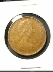 Extremely Rare 1971 New Pence 2p Coin  Bronze Circulated Condition