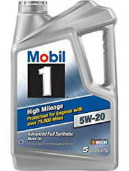 Mobil 1 Motor Oil - High Mileage - 5w20 - Synthetic - 5 Qt - Each Mob120768-1