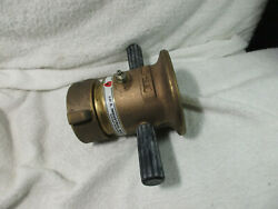 Elkhart Aa Brass Industrial Fire Hose Nozzle,2-1/2 Constant Flow, Ss/fog Master