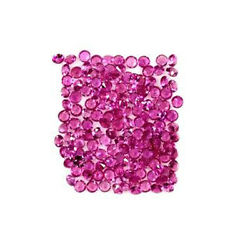 100cts Very Good Quality Natural 2mm Diamond Cut Pink Tourmaline Loose Gemstone