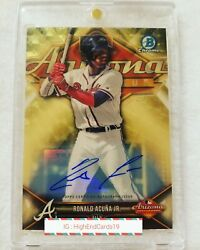 2018 Bowman Chrome 2017 AFL Stars Gold Superfractor Ronald Acuna Auto 1/1 SSP