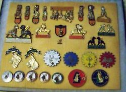 VINTAGE COLLECTION LIONS CLUB PINS LEADER DOGS FRATERNAL ORDER