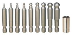 Metric Ball-end In-hex Power Bits 1/4 Hex Long10 Piece Set Tande Tools 91128