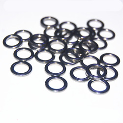 New 100pcs Stainless Steel Heavy Duty Weldless Closed O Ring Fishing Tackle Link
