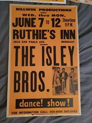 THE ISLEY BROTHERS  SOUL HALL OF FAME  CARDBOARD BOXING STYLE CONCERT POSTER