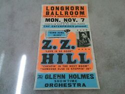 Z.z. Hill Art Of Rock Rare Boxing Style Concert Poster