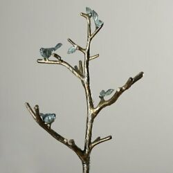 Farmhouse Bird Decor Coat Rack Free Standing Hall Tree Hats Hanger Storage Stand