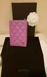 Chanel Passport HOLDER LILAC LAMBSKIN COVER with 4 Credit Card Slots New w Tags
