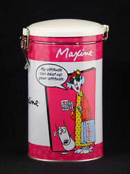 Maxine Tin Can Canister W/ Latch My Attitude Can Beat Up Your Attitude