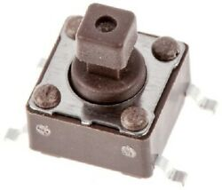 12x Apem Tactile Switches 10pcs 50ma Spst 1.57n 4mm Momentary, Brown Button