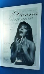 Donna Summer Ultra Rare Carnegie Hall Event Poster 1998 24x36 inches