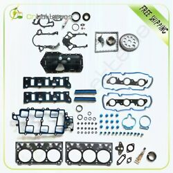 Timing Chain Kit Head Gasket Oil Pan Gasket For 98-03 Buick Chevy Pontiac 3.8l