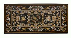 48 X 24 Marble Exclusive Stone Table Mosaic Inlaid Decoration For Restaurant
