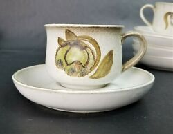 Set Of 5 Cups And 5 Saucers Denby Langley Troubadour Floral Cups And Saucers