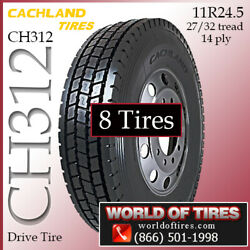 Cachland Ch312 8 Commercial Tires 11r24.5 With Free Shipping