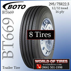 16ply Semi Trailer Tires 22.5 Tires 291 Each Lot Of 8 Free Shipping