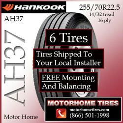 Motor Home Tires 255 70r22.5 Hankook Includes Shipping And Installation