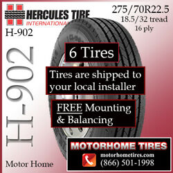 Coach Tires 275/70r22.5 Includes Shipping/installation And Alignment