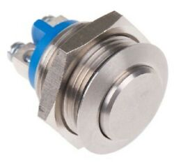 Apem Push Button Switch 200ma Momentary Spst, Panel Mount, Screw Terminal Silver