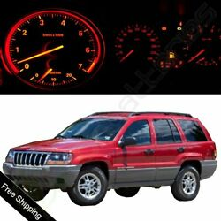 Red LED Package Set Gauge Cluster Light Bulbs for 2002-2004 Jeep Grand Cherokee