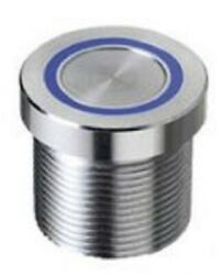 Apem Push Button Switch Latching, Momentary, Flying Lead, Illuminated Silver/red