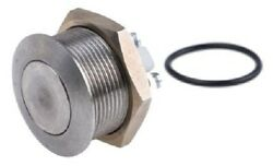 Apem Push Button Switch 2a 48v Dc Momentary Spst, Screw Terminal, Flat Silver
