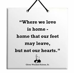 Oliver Wendell Holmes Sr. Best Deal Tile Wall Hang Home Decor Famous Quote