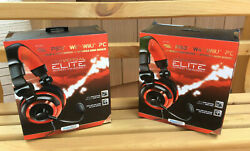 Dream Gear Universal Elite Wired Headset Lot Of 2 New Xbox 360 Ps3 Wii U Pc Wii