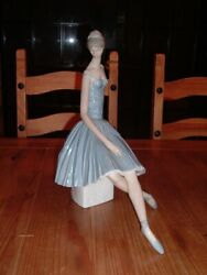 Ballerina – Lladro Figurine Hand Made In Spain Blue And White