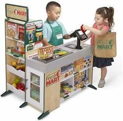 Melissa & Doug Play Grocery Store Wooden Supermarket kids Toy Wood Building Mart